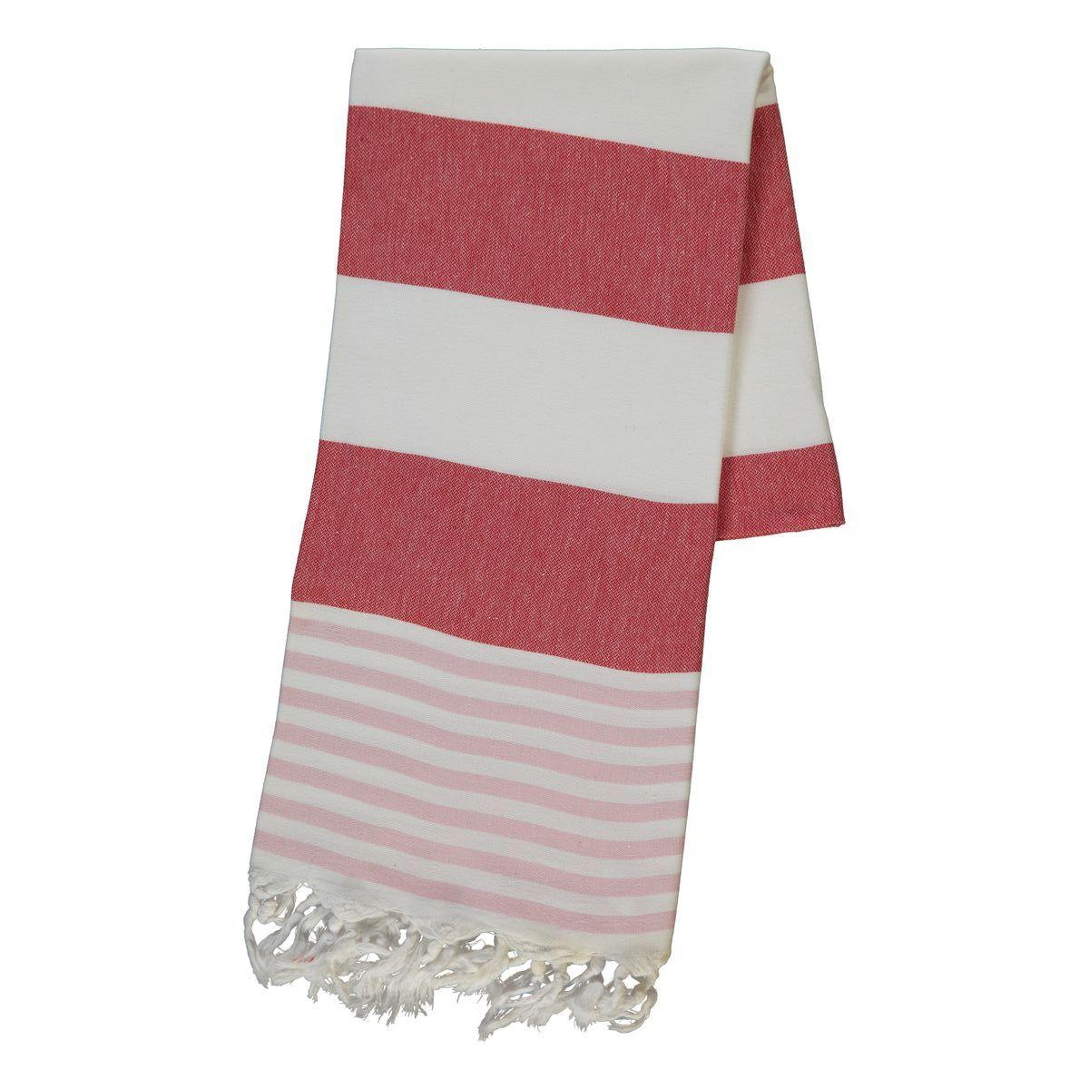 Peshtemal Ladon03 - Pink / Red