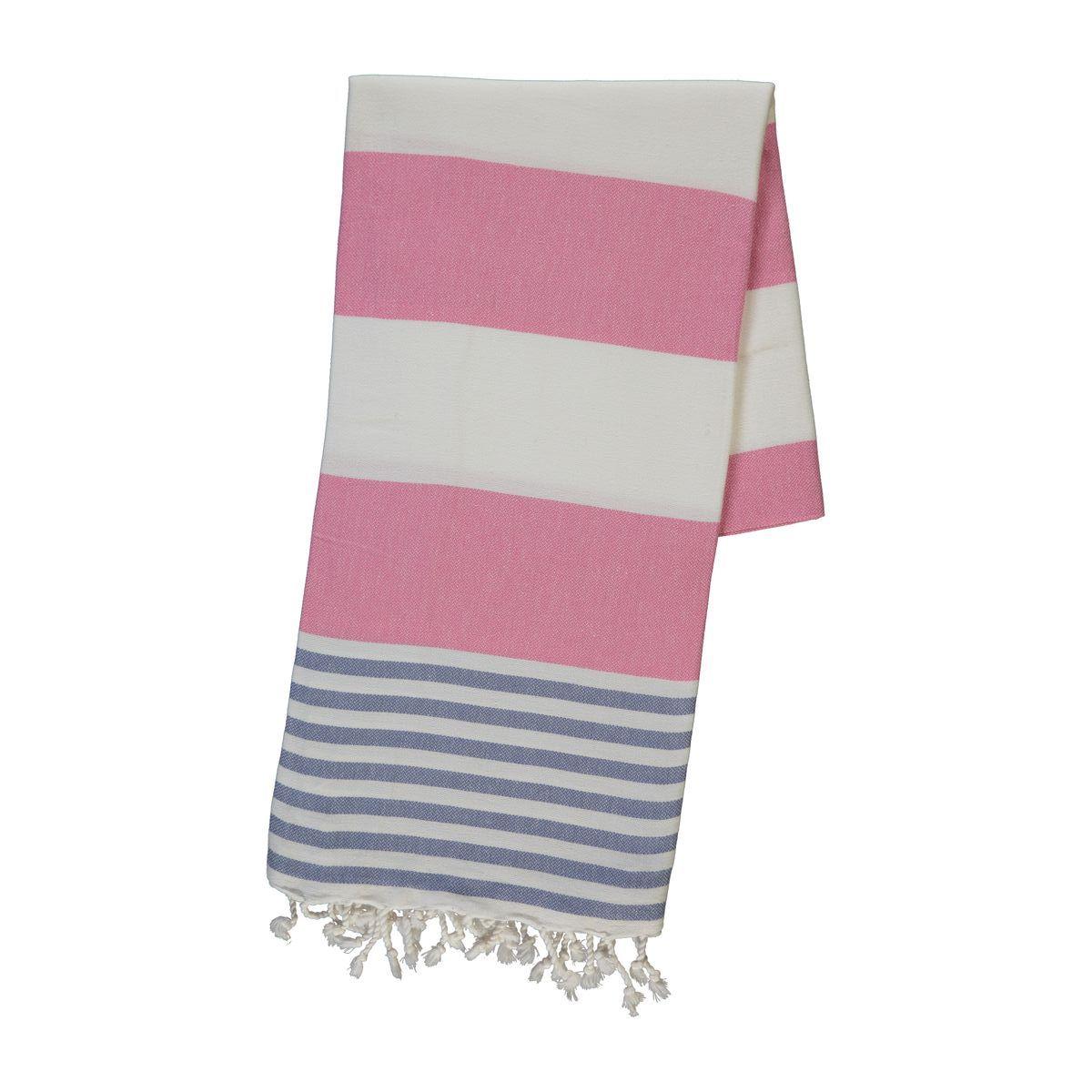 Peshtemal Ladon03 - Jean Blue / Pink