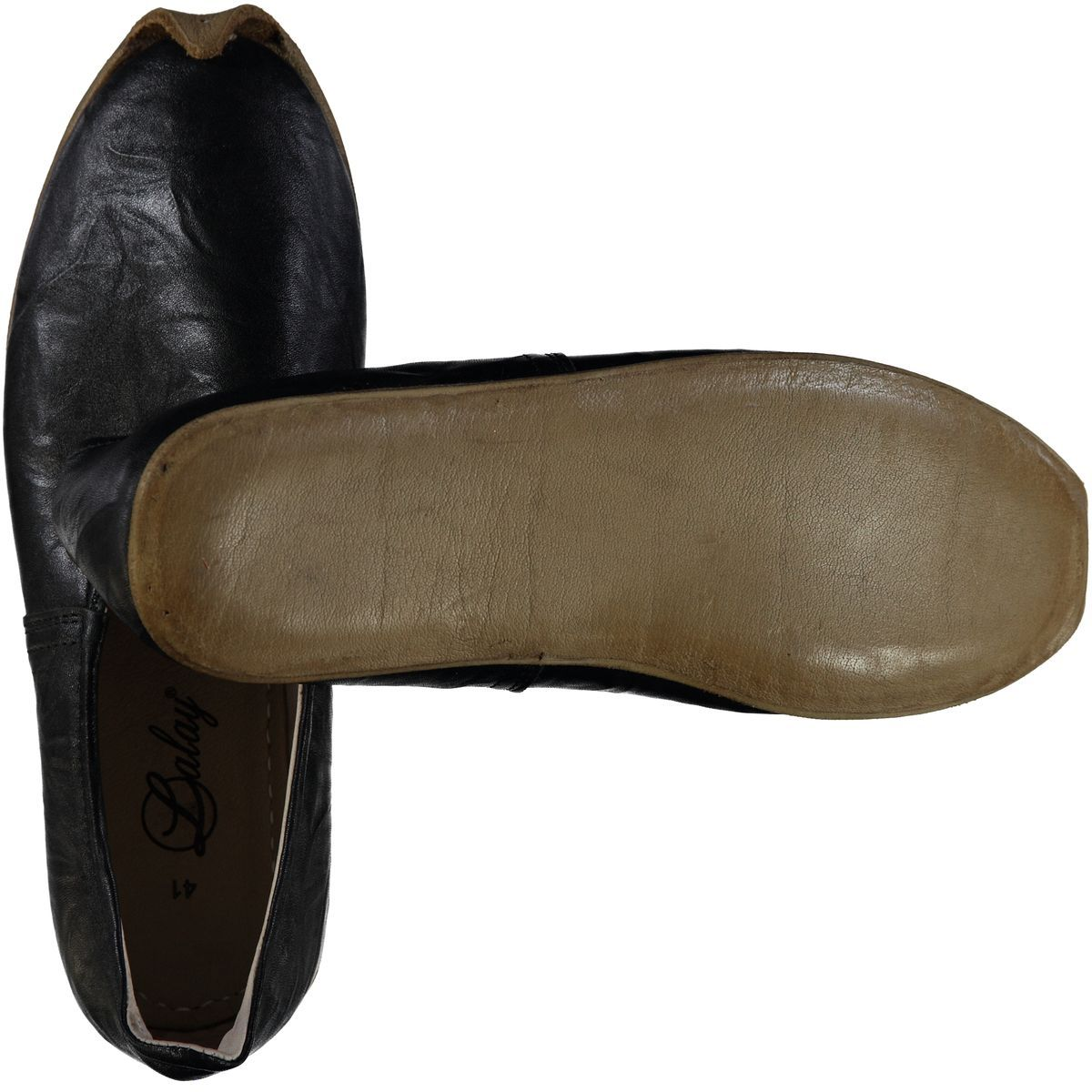 Shoe - Babouche / Leather / Handmade - Black