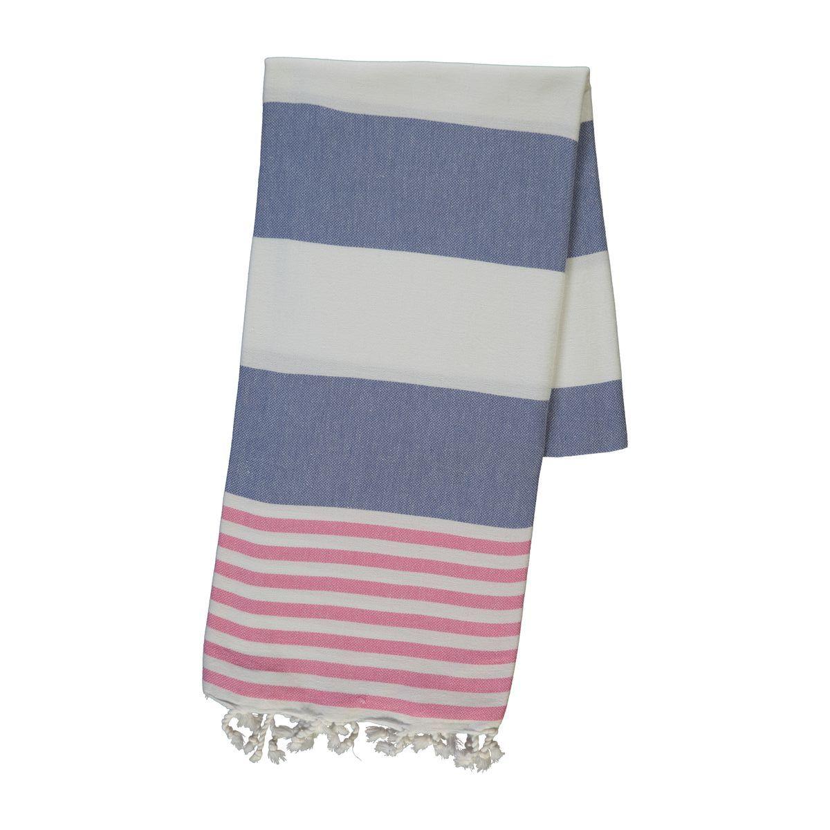 Peshtemal Ladon03 - Pink / Jean Blue