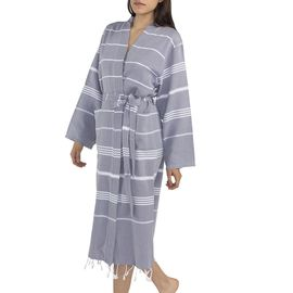 Bathrobe Leyla / Kimono Collar - Dark Grey