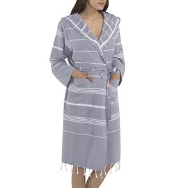 BATHROBE KUMSAL CP - LIGHT GREY