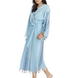 Bathrobe Gocek with hood / Turquoise