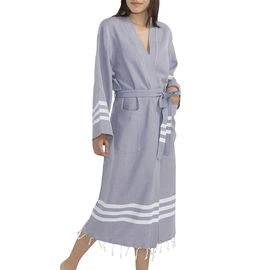 BATHROBE  SENA - DARK GREY