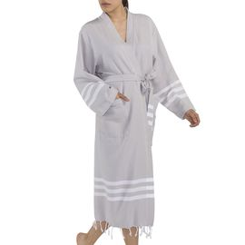 BATHROBE SENA YKS - LIGHT GREY