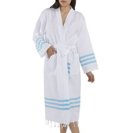 BATHROBE SENA - TURQUOISE STRIPES