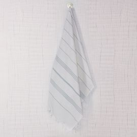 Peshtemal Leyla - White / Light Blue Stripes