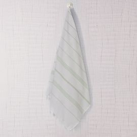 Peshtemal Leyla - White / Mint Stripes