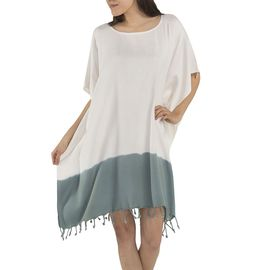Tunic Minzi / Tie Dyed Edges Almond Green