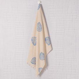 HAND PRINTED TOWEL FERTILITY - BLUE