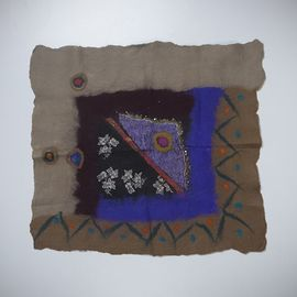 Decorative Cover -  Handmade Silk / Felted