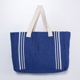 Tote Bag - Krem Sultan / Royal Blue