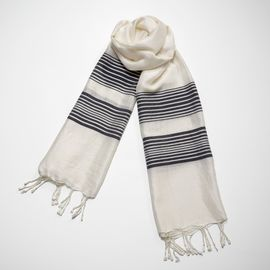 Silk CZ Scarf - Navy Stripes