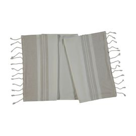 Towel Mini / Double Face - White / Beige