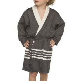 Bathrobe Kiddo Terry  - Black