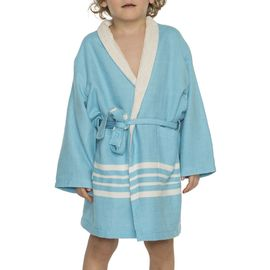Bathrobe Kiddo Terry  - Turquoise