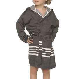 Bathrobe Kiddo with hood - Black