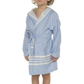 Bathrobe Kiddo with hood  - Blue