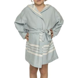 Bathrobe Kiddo with hood  - Light  Blue