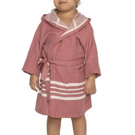 Bathrobe Kiddo with hood  - Dusty Rose
