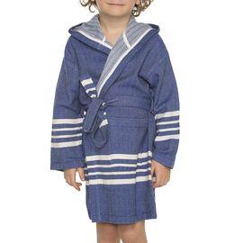 Bathrobe Kiddo with hood - Royal Blue