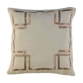Cushion Cover / Geo - Copper Embroideried