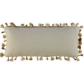 Cushion Cover / Pompom 23x60 - Gold Copper tassels