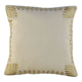 Cushion Cover / Leave - Gold Embroideried