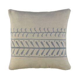 Cushion Cover / 15 Hand Printed - Blue