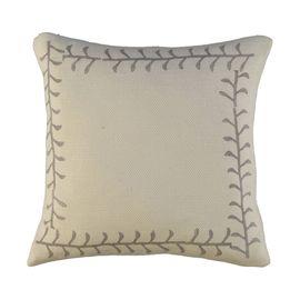 Cushion Cover / 16 Hand Printed - Beige