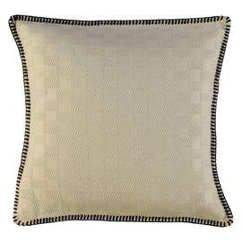 Cushion Cover - Sugar Fabric / Black Stitched