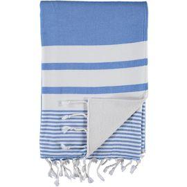 Peştemal Havlulu Tabiat - Çift Yüzlü / Koyu Mavi