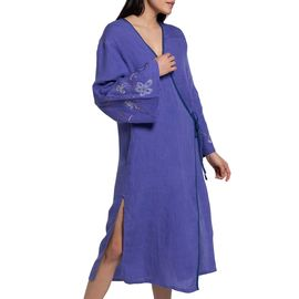 Dressing Gown / Indoor - Outdoor - Menekshe / Purple - Hand beaded