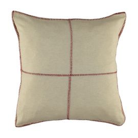 Cushion Cover / Patchwork - Dusty Rose stitched 40x40 cm