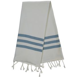 Peshtowel Mini / Bala Sultan - Petrol Blue Stripes