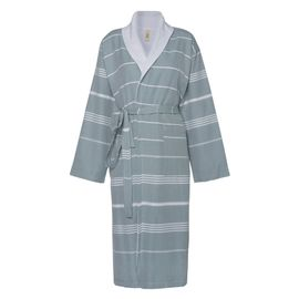 Bathrobe Leyla / With Towel Lining - Almond Green
