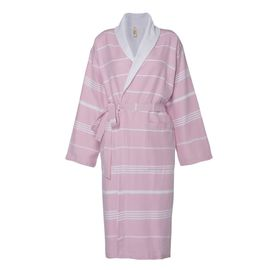 Bathrobe Leyla / With Towel Lining - Rose Pink