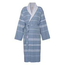Bathrobe Leyla / With Towel Lining - Air Blue
