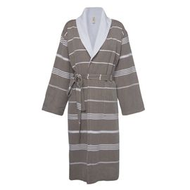 Bathrobe Leyla / With Towel Lining - Khaki