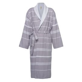 Bathrobe Leyla / With Towel Lining - Dark Grey