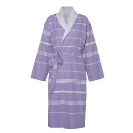 Bathrobe Leyla / With Towel Lining - Dark Lilac