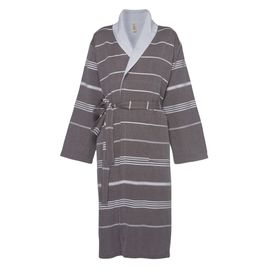 Bathrobe Leyla / With Towel Lining - Brown