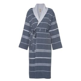 Bathrobe Leyla / With Towel Lining - Navy