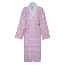 Bathrobe Leyla / With Towel Lining - Pink
