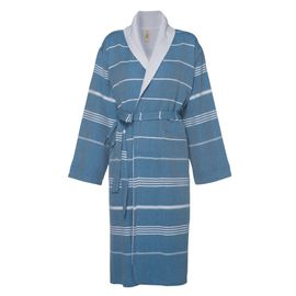 Bathrobe Leyla / With Towel Lining - Petrol Blue