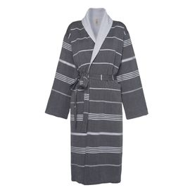 Bathrobe Leyla / With Towel Lining - Black