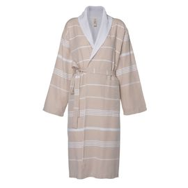 Bathrobe Leyla / With Towel Lining - Beige