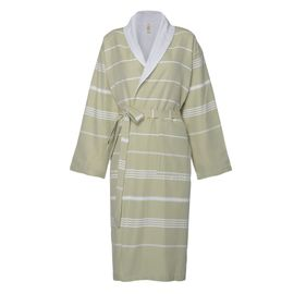 Bathrobe Leyla / With Towel Lining - Green