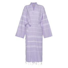 Bathrobe Leyla / Kimono Collar - Lilac