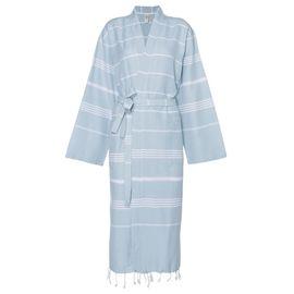 Bathrobe Leyla / Kimono Collar - Light Blue